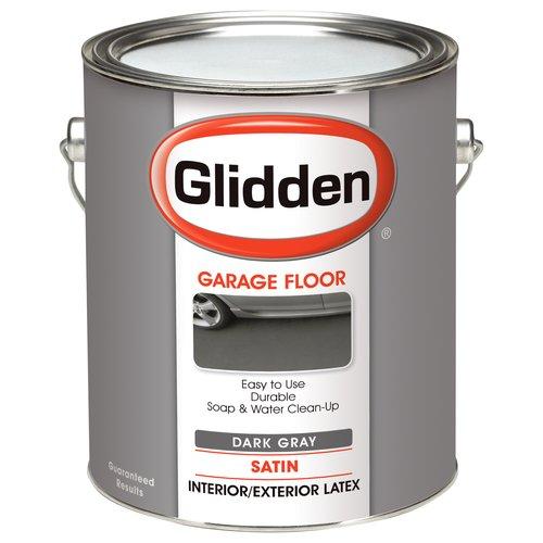 Glidden Garage Floor Paint, Grab-N-Go, Eggshell Finish, Dark Grey, 1 Gallon
