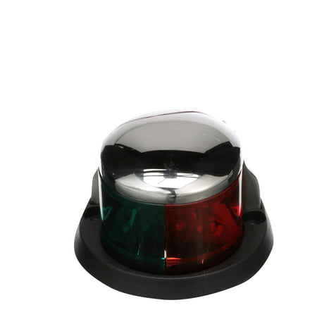 Seachoice 02041 LED Bi-Color Bow Light – Stainless, Red and Green Lenses, 2-Mile Visibility for Sail or Powerboats Under 66
