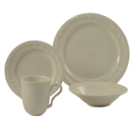 Colorus China Mettie 16 Piece Dinnerware Set  Service For 4