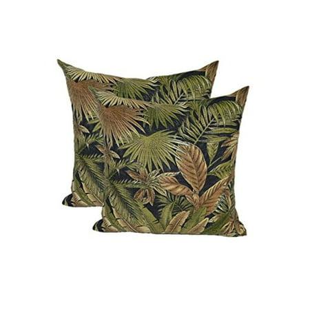 Set Of 40 Square Throw Pillows 400 InOutdoor Black Green Tan Inspiration Black And Tan Decorative Pillows