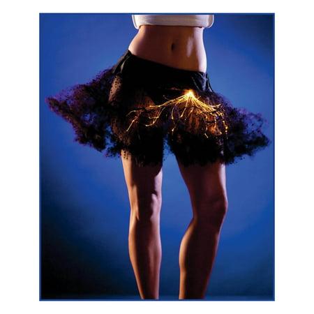 Black and Orange Light-Up Petticoat (Men's Petticoat)
