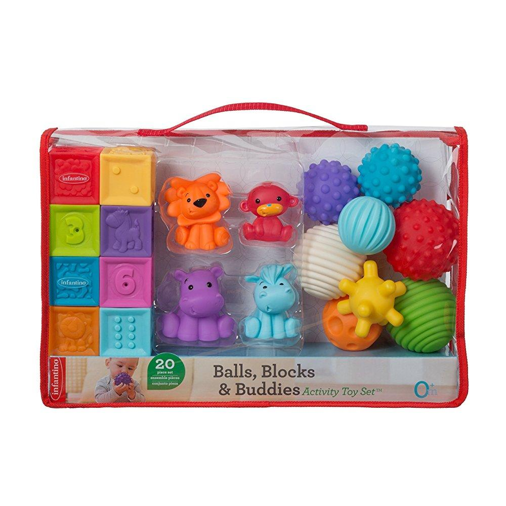 Infantino Balls, Blocks & Buddies Activity Toy Set