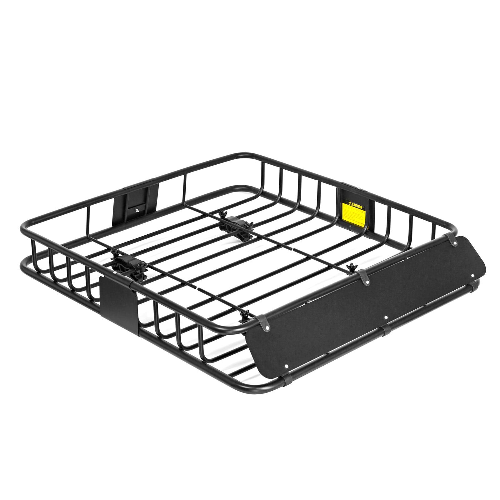 "Direct Aftermarket  Black Universal Roof Rack Cargo Car SUV Van Top Luggage Holder Carrier Basket Travel SUV 44"" x 39"" x 6"""