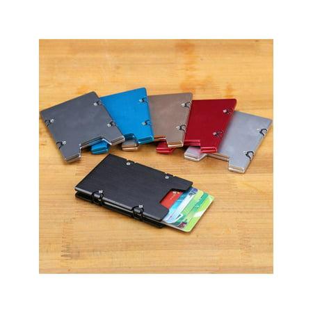 Silver Plated Bell Card Holder (Men RFID Blocking Slim Clip Credit Card Holder Minimalist Aluminum Alloy Wallet)