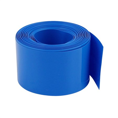 30mm Flat Width 2M Length PVC Heat Shrink Tube Blue for 18650 Batteries - image 1 of 2