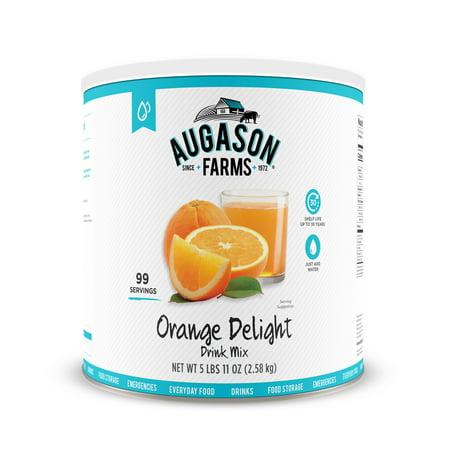 - Augason Farms Orange Delight Drink Mix 5 lbs 11 oz No. 10 Can