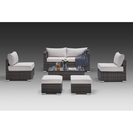 Orren Ellis Ahmed 6 Piece Rattan Sofa Seating Group With Cushions