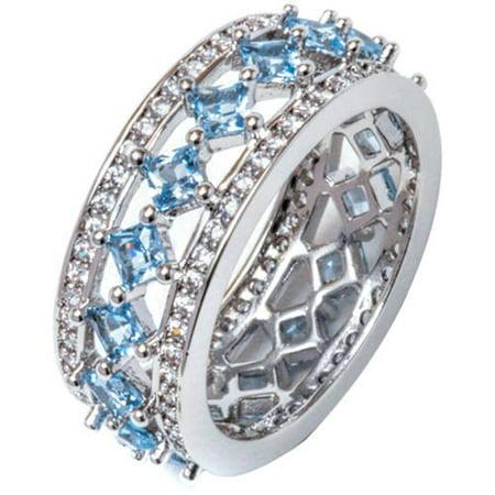 0.15 Carat T.G.W. Princess-Cut CZ 18kt White Gold-Tone Ring