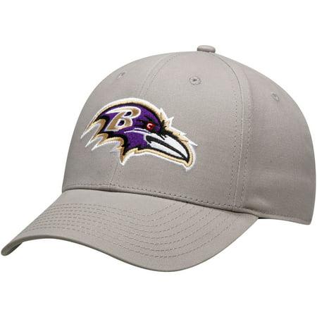 Men's Gray Baltimore Ravens Basic Adjustable Hat - OSFA Baltimore Ravens Womens Hats