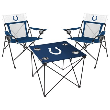 Indianapolis Colts Rawlings Deluxe 3-Piece Tailgate Chair & Table Kit - No -
