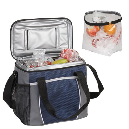 Courtyard Cooler, Navy, Also it has a Velcro top allowing quick access to your pocket allowing quick access to your drinks By Preferred