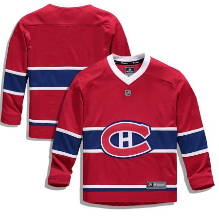 Montreal Canadiens Fanatics Branded Youth Home Replica Blank Jersey - Red (Montreal Canadiens Replica Jersey)