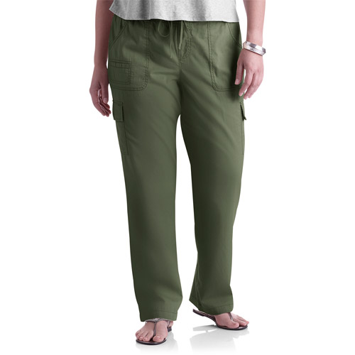 Wonderful Faded Glory  Women39s Organic Cotton Knit Cropped Cargo Pants Women