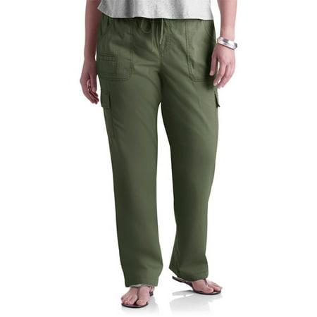 9ffbc0955a Faded Glory - Women's Plus-Size Cargo Pants with Knit Waistband -  Walmart.com