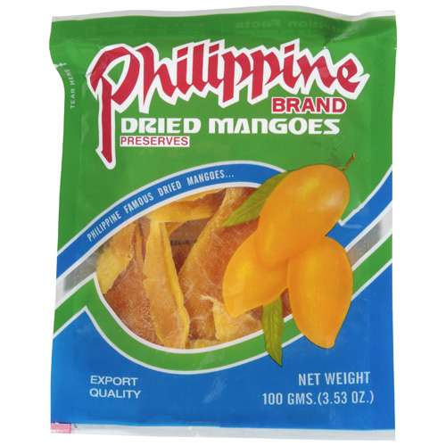 Philippine Brand: Dried Mangoes, 3.53 Oz
