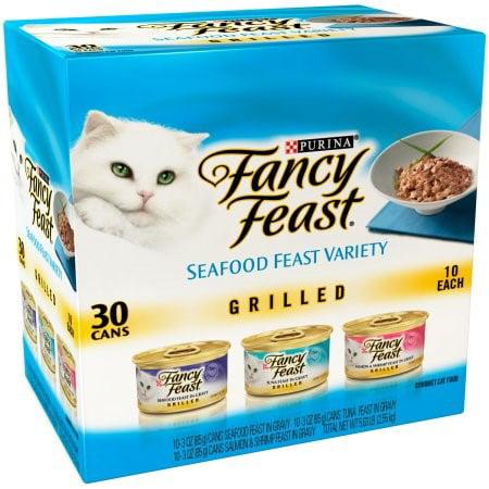 Fancy Feast Grill Seafood Feast Variety Wet Cat Food  3 Oz  30 Pk