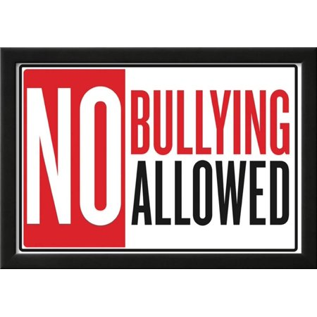 No Bullying Allowed Classroom Poster Framed Poster Wall Art  - 21x15