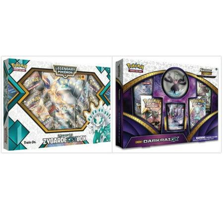 Pokemon Shiny Zygarde GX Box and Shiny Darkrai GX Figure Box Trading ...