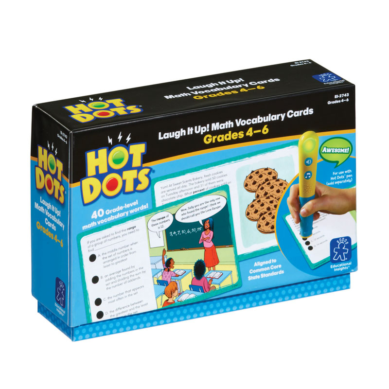 Educational Insights Hot Dots Laugh It Up! Math Vocabulary, Grades 4-6