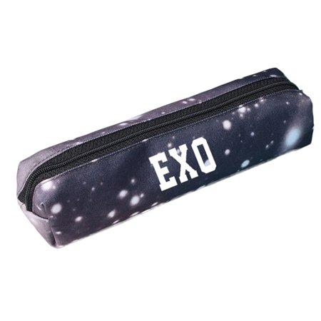 Fancyleo BTS Pencil Case Kpop BTS EXO BLACKPINK TWICE GOT7 Monsta X Best Fans Gift Pencil Cases Simple Pencil Pouches Makeup