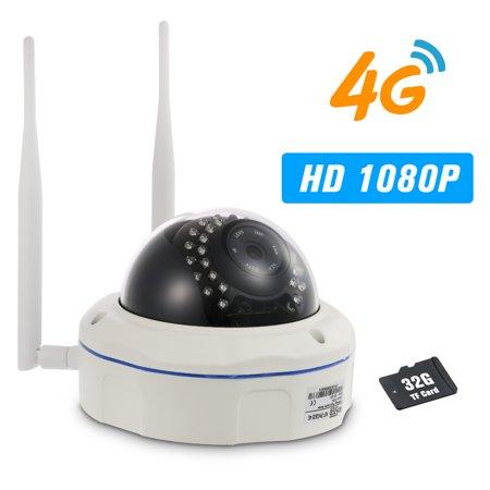 Sima Video Lights (1080P IP Camera 4G Wireless IP Camera IR-CUT Night Vision 3G GSM Outdoor Waterproof CCTV Camera Video Surveillance Onvif IP Cameras with SIM Card Slot )