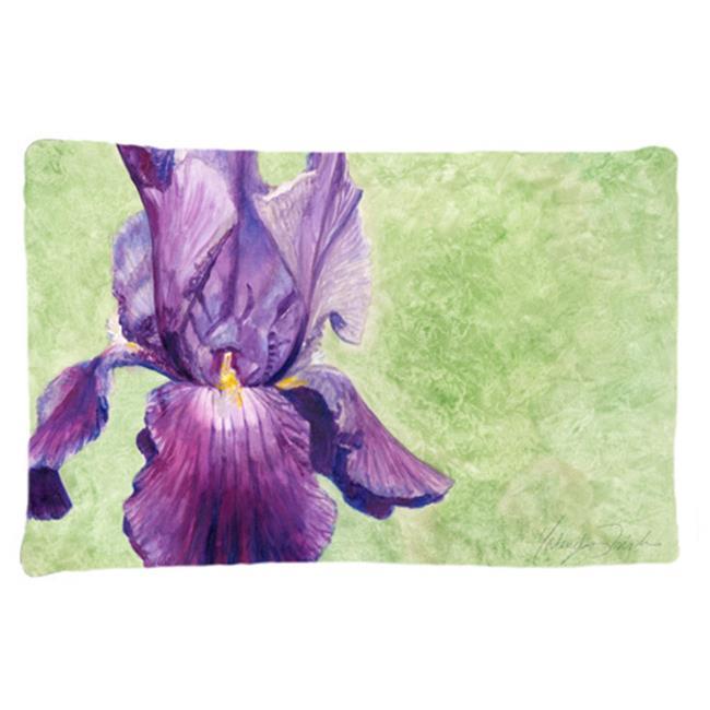 Carolines Treasures TMTR0234PILLOWCASE Purple Iris by Malenda Trick Fabric Standard Pillowcase - image 1 of 1