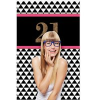 "big dot of happiness finally 21 girl - 21st birthday party photo booth backdrop - 36"" x 60"""