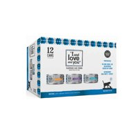 """""""I and love and you"""" Wet Cat Food Variety Pack, Oh My Cod!, Purrky Turkey, Chicken Me Out"""