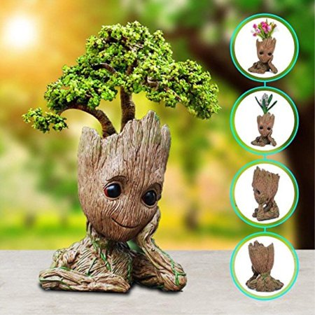Sprite Beat Groot Flower Pot Groot Action Figures Guardians of The Galaxy Kids Toy Baby Cute Groot Figure Model Toy Pen Pot Pop