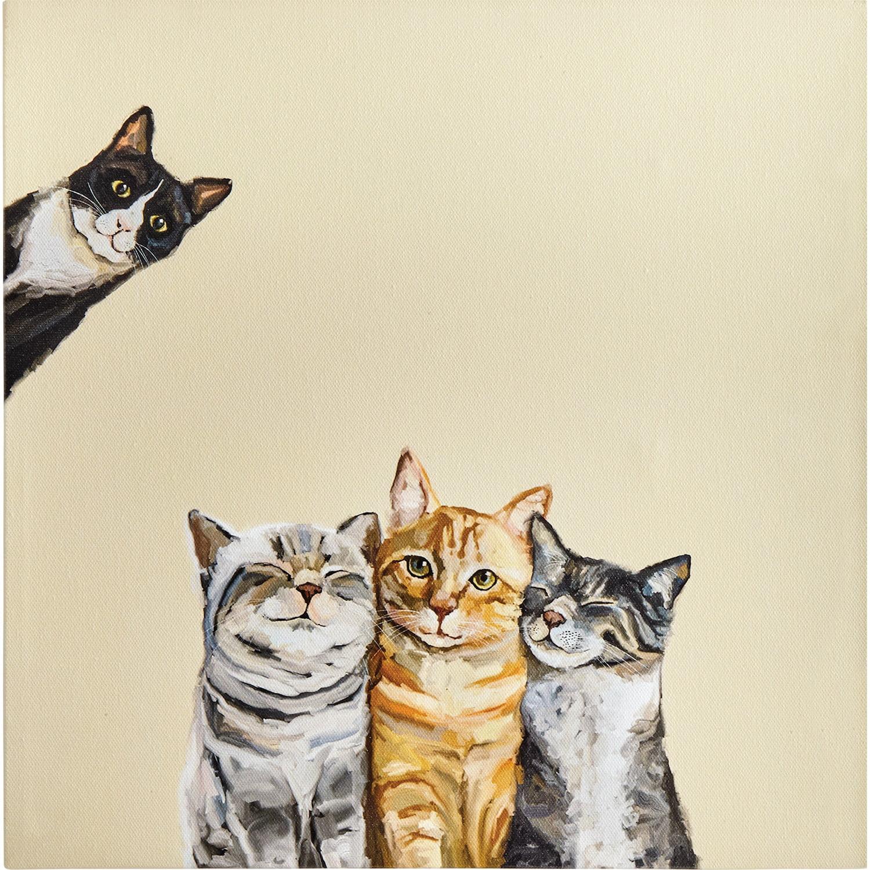 Greenbox Curious Onlooker Canvas Print Cathy Walters Cat Wall Art 10 X 10 Walmart Com Walmart Com