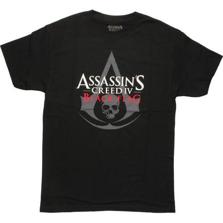 Assassins Creed IV Black Flag Logo T-Shirt - Assassin Creed Suits