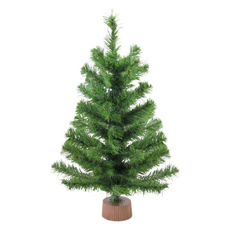 Mini Pine Artificial Christmas Tree in Wood Base