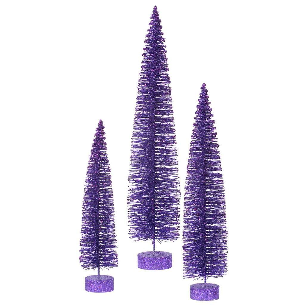 Vickerman 3 Piece Glitter Oval Christmas Tree Set