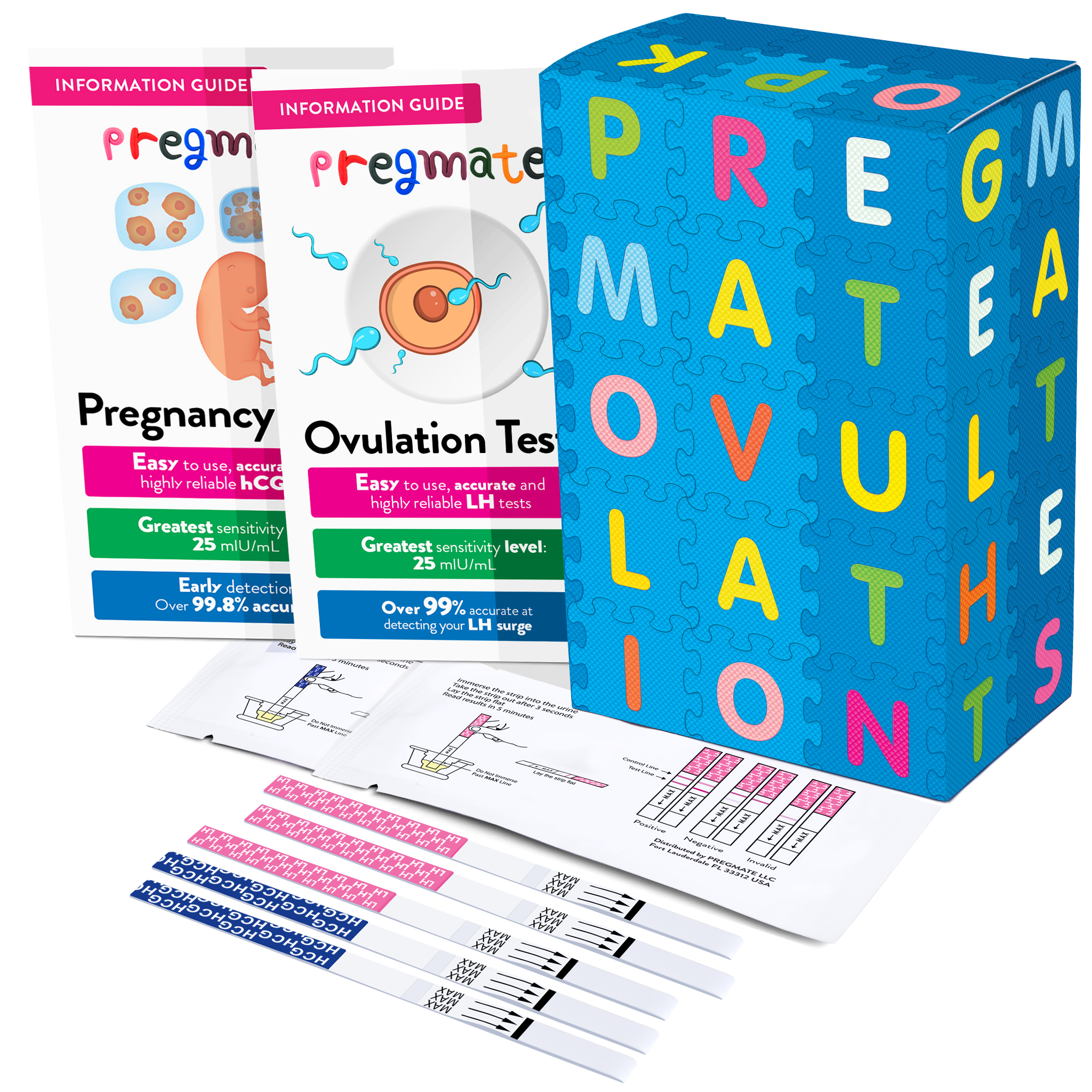 PREGMATE 30 Ovulation LH Test Strips Predictor OPK Kit (30 LH)