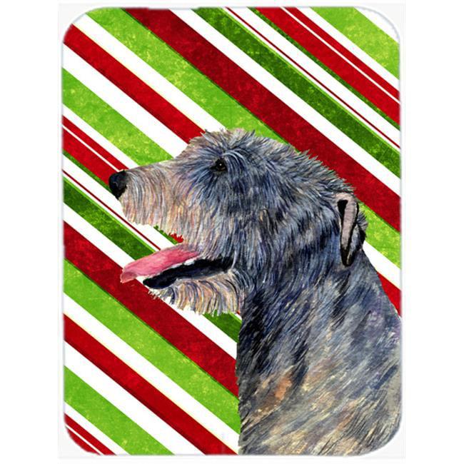 Carolines Treasures SS4575LCB Irish Wolfhound Candy Cane Holiday Christmas Glass Cutting Board - Large - image 1 of 1