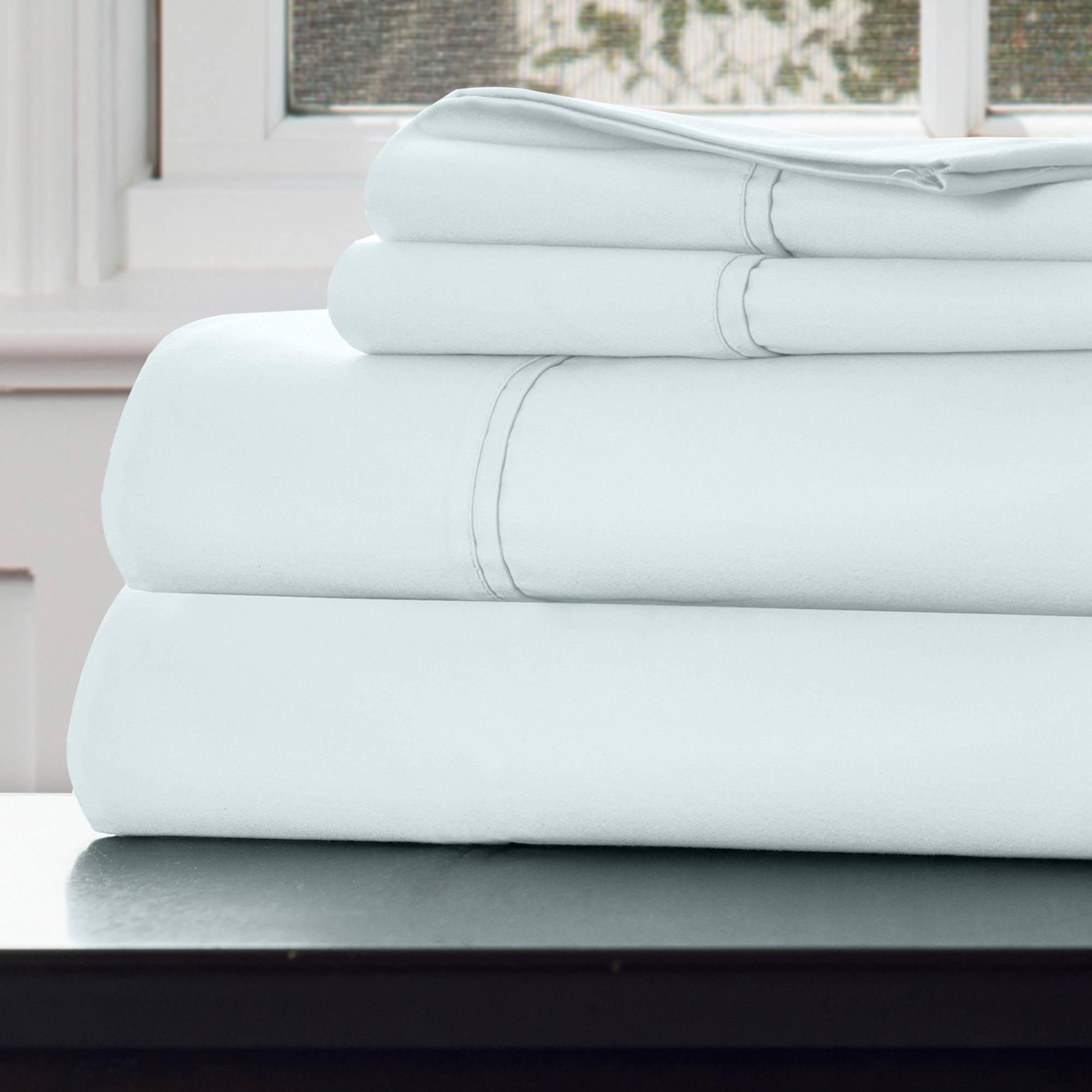 SH 1000-Thread-Count Cotton Rich Sateen Sheet Set, Sprout Green