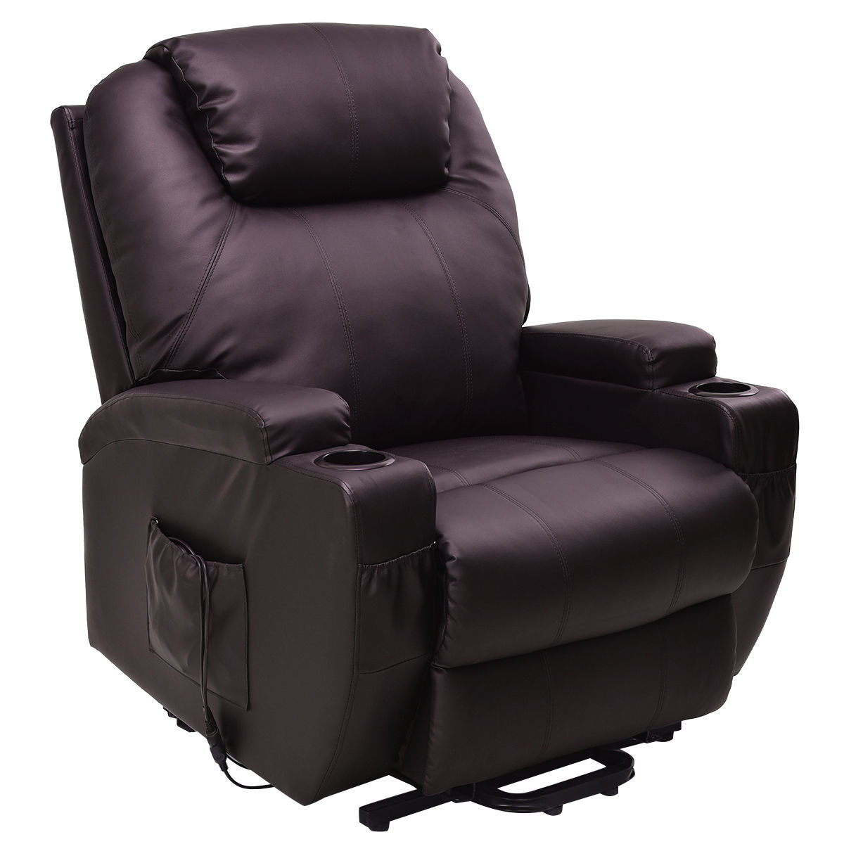 Costway Lift Chair Electric Power Recliner w/Remote and Cup Holder Living Room Furniture  sc 1 st  Walmart & Costway Lift Chair Electric Power Recliner w/Remote and Cup Holder ... islam-shia.org