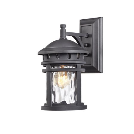 Home Decorators Collection 1 Light Black Outdoor Wall Lantern