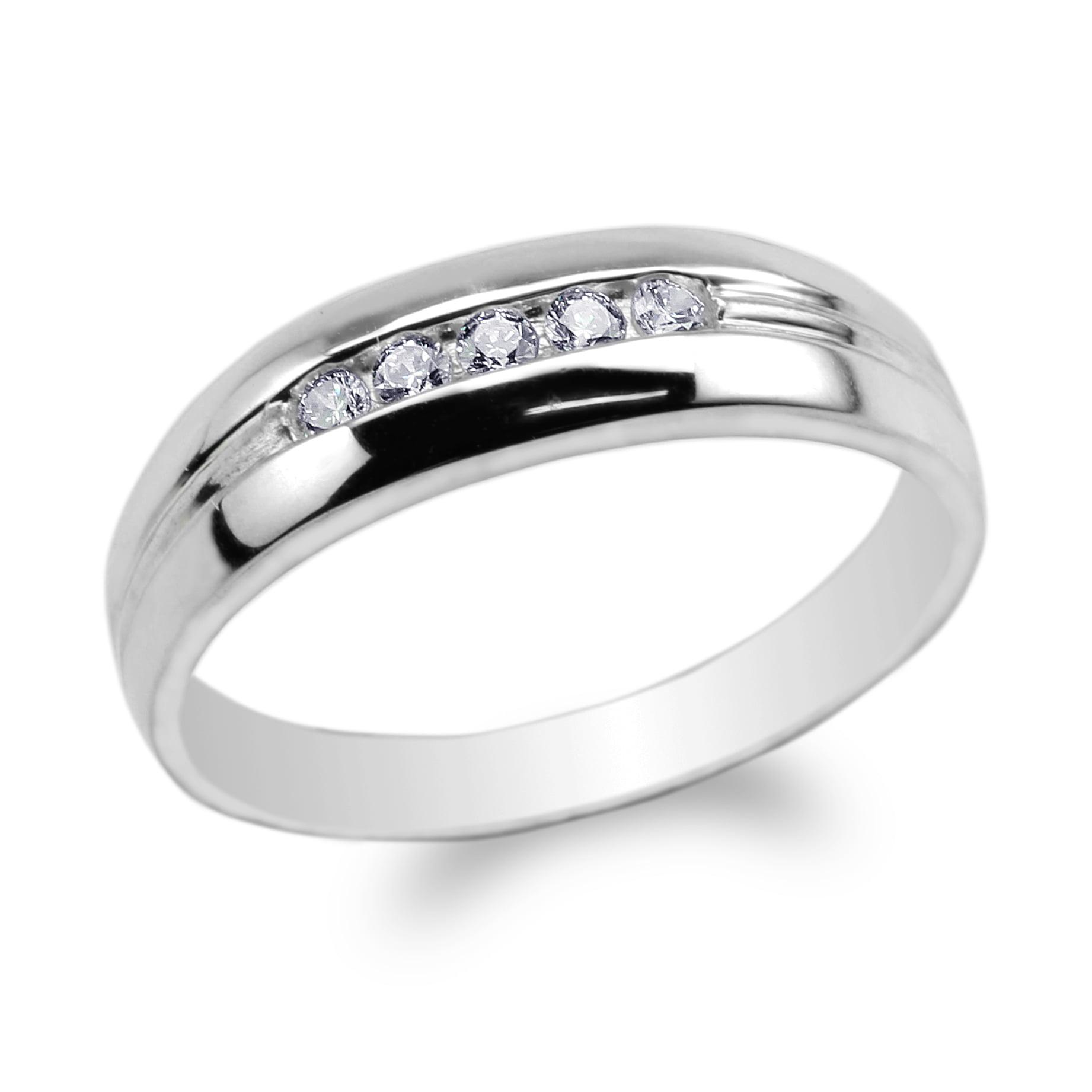 JamesJenny Ladies 10K White Gold 1.0ct Round CZ Beautiful Halo Ring Size 5-9