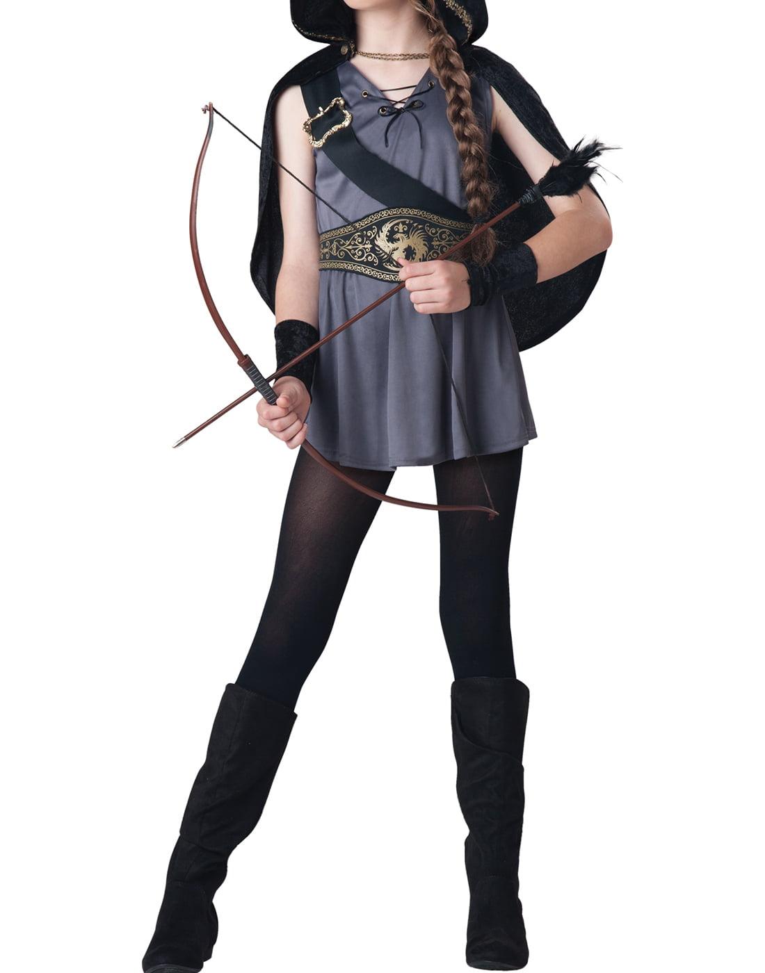 Hooded Huntsman Boys Child Robin Hood Warrior Halloween Costume