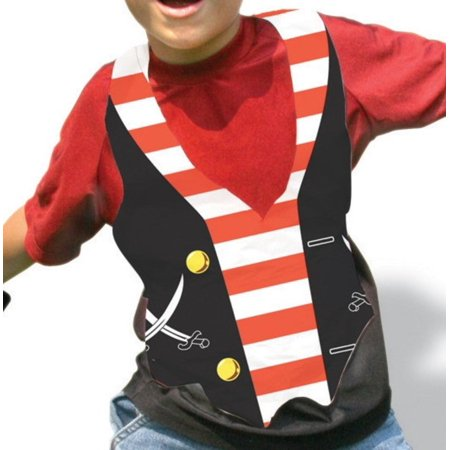 Club Pack of 48 Buried Treasure Plastic Pirate Vest Costume Accessory Party Favors