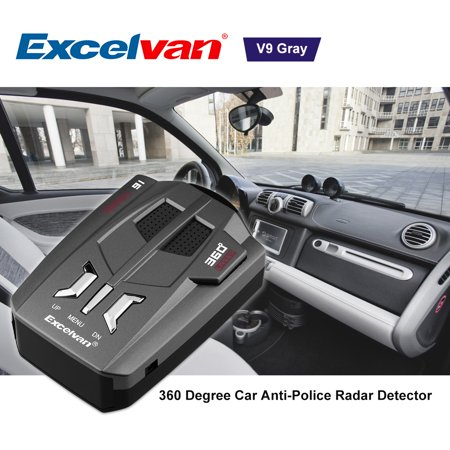 Excelvan 360 Degrees Car Trucker Speed V9 Alert Warning 16 Band Auto 12 In Put Vehicle Police Radar Detector Voice w/ LED