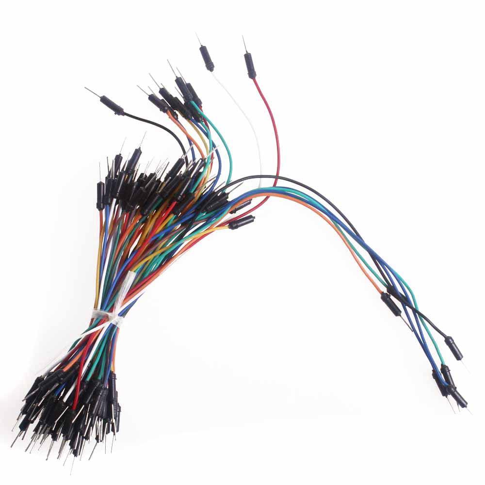 Solderless Flexible Breadboard Jumper Wires M/M - Pack of 100