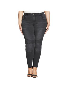bb94da2628 Product Image City Chic Womens Harley Fitted Mid-Rise Skinny Jeans