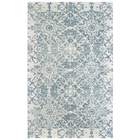 Sphinx Tallavera Area Rugs - 55603 Contemporary Blue Angled Diamonds Blocks Ovals Rug