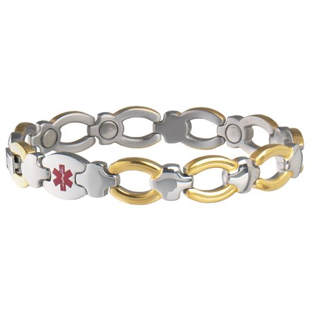 Sabona Magnetic Diabetic Ladies' Medical ID Bracelet-L/XL