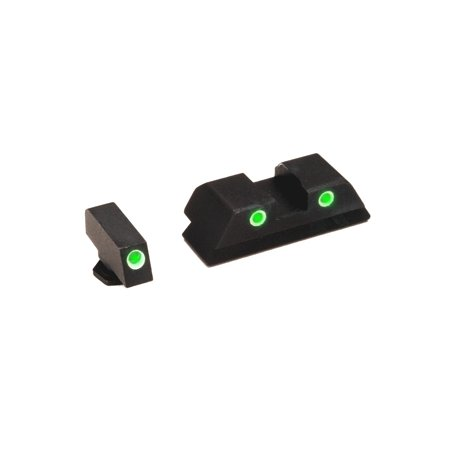 Ultimate Arms Gear GL-113U Glock 17 19 22 23 24 26 27 33 34 35 37 38 39  Classic Set Green Front Green Rear Tritium Trinium Night Sight