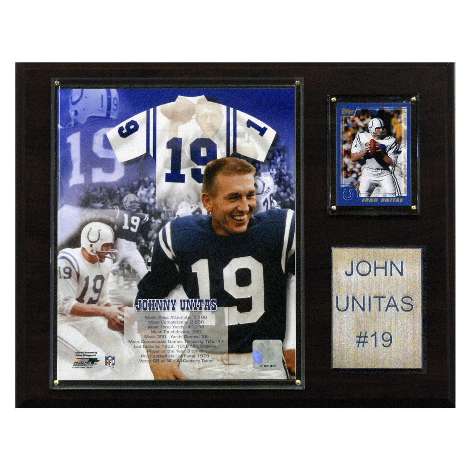 C&I Collectables NFL 12x15 Johnny Unitas Baltimore Colts Player Plaque
