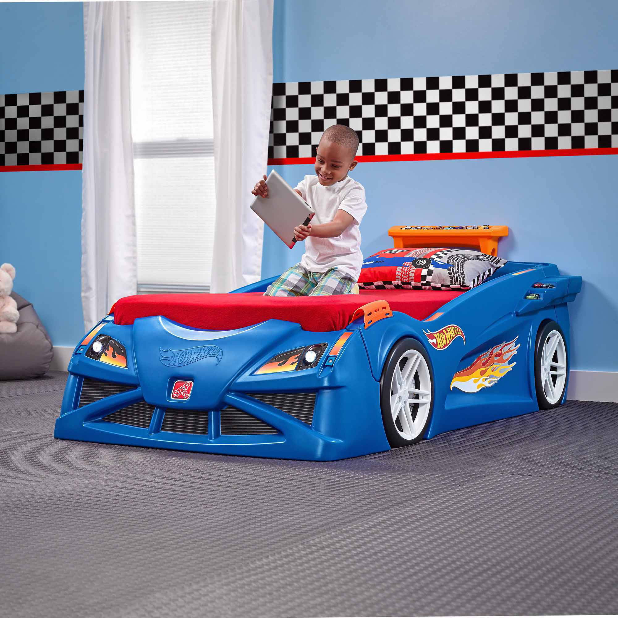 Blue car beds for kids - Blue Car Beds For Kids 6
