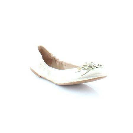 Tory Burch Blossom Women's Flats & Oxfords SPARK GOLD Size 11 (Tory Burch Flat Sale)